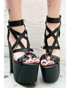 Pentagram platform shoes.