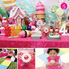 {Party of 5} Girly Safari, Vineyard Wedding, Minnie Mouse First Birthday, Science Party & Candyland - Hostess with the Mostess®