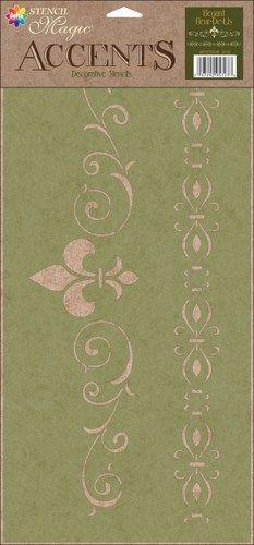 Stencil Magic Accents 8 5 X18 Elegant Fleur De Lis Songbirdcrafts Paint