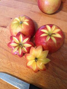 Apfelblüten schnitzen Mango, Delish, Apple, Cooking, Desserts, Drinks, Tips, Deserts, Creative Food