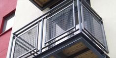 woven wire metal railings exterior | Woven wire balcony panels