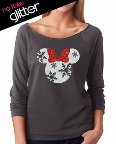 Glitter Holiday Shirts Perfect For Showing Your Disney Side This Season!