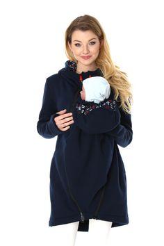 Tragejacke aus Sweatstoff, Jacke für Mama und Baby, Übergangsjacke für Mama / jacket for mom and baby, spring jacket made by GoFuture via DaWanda.com