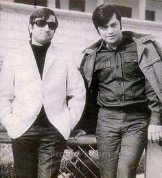 Two prominent faces from Pakistan movie industry.  R: Waheed Murad  (October 2, 1938 – November 23, 1983) was a legendary Pakistani film actor, producer and script writer. Waheed is considered to be one of the most famous and influential actors of subcontinent. Born in Sialkot, British India, he was the only child of well-off film distributor Mr. Nisar Murad.  L: Nadeem ( Actor).