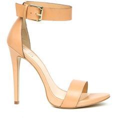 Rihanna for River Island Ankle Strap Stilettos ($200) found on Polyvore