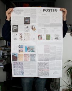 A newsprint or fold out poster featuring samples of each person's favourite pieces of work?