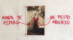 Usando linhas, agulhas, tecidos, fotografias antigas, Pedro Luis borda à mão lindas obras cheias de memórias, sentimentos, vontades e lembranças.