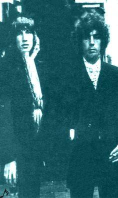 Syd Barrett y Roger Waters,la génesis del legendario grupo Pink Floyd.