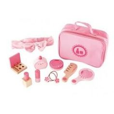 Hape Toys Beauty Belongings - Encourage role play and satisfy a child's curiosity with this cosmetic kit. Hape Toys, Cosmetic Kit, Soft Pink Color, Thing 1, Pretend Play, Role Play, Imaginative Play, Child Models, Toy Store