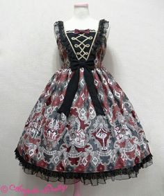 Harlequinade Switching Jumperskirt in black, Angelic Pretty 2016