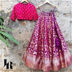 Fancy shopping Banarasi Lehenga for your wedding? Check out all these amazing labels selling banarasi lehengas from INR 5000 to INR 1 Lakh+. Banarasi Lehenga, Half Saree Lehenga, Lehnga Dress, Brocade Lehenga, Kids Lehenga, Sarees, Sharara, Anarkali, Half Saree Designs