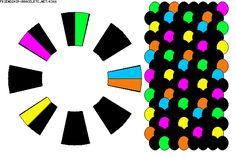 K366 - friendship-bracelets.net.                     16 strings.  6 colours