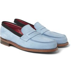 Sibling x Grenson Nubuck Penny Loafers