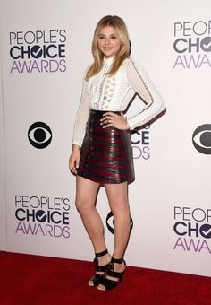 Chloe Moretz wears Louis Vuitton for the 2015 People's Choice Awards in LA