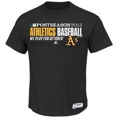 be1b72dc39360 Majestic Oakland Athletics Team Favorite 2013 Playoff T-Shirt