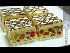 Prajitura cu blat cu nuca | Prajitura Mozaic | Adygio Kitchen - YouTube Romanian Desserts, Romanian Food, Striped Cake, Yule Log, Food Cakes, Cake Cookies, Cake Recipes, Sweet Treats, Sweets