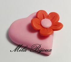 Cuore con fiorellino, by Mila Bijoux, 0,90 € su misshobby.com