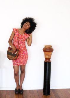 Ensemple V Top crop jupe taille haute sac en baobab séché