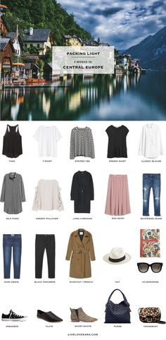 Packing List: 3 weeks in Central Europe in Spring - What to pack. livelovesara