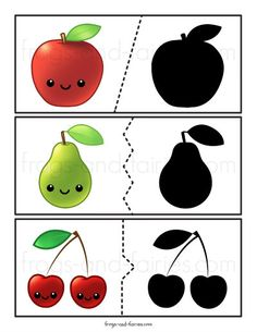 Fruit & Vegetable Shadow Match Puzzle and Clip Card Pack