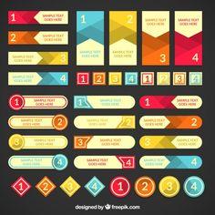 Variedade de banners infográfico Vetor grátis