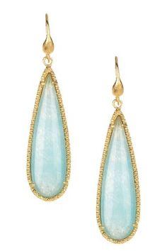 blue chalcedony white gold teardrop earrings cubic zirconia - Google Search