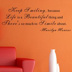 Life Is a Beautiful Thing- Marilyn Monroe Wall Decal