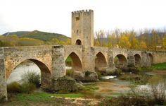 Frías, Las Merindades, Burgos - Río Ebro a su paso por el Puente Medieval