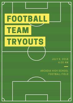Football Field Poster
