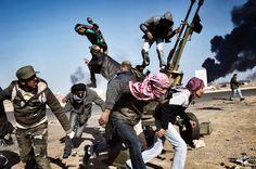 rebels in Ras Lanuf, Libya, on March 11, 2011. (AP Photo/Yuri Kozyrev, Noor Images for Time)