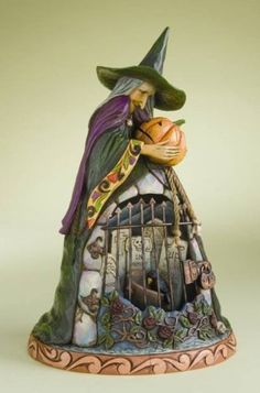 Jim Shore Spellbound Witch with Graveyard Gate Figurine