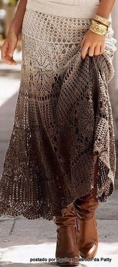 I WISH I had the patience to crochet clothes.