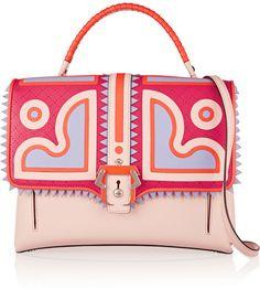 Paula Cademartori Faye appliquéd leather shoulder bag    | ≼❃≽ @kimludcom