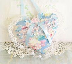 Heart Pillow Heart Door Hanger 6 inch Heart by CharlotteStyle