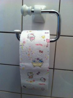 Hello Kitty toilet tissue...  This exists.