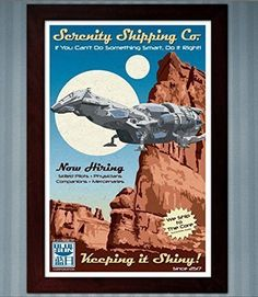 Serenity Shipping Co. (Firefly) - Advertisement Poster - 11x17 * Continue to the product at the image link.