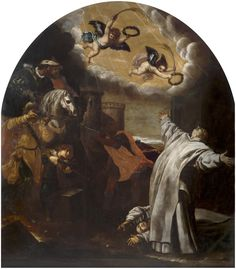 The Martyrdom of Vinzenz Herck and Jan van Loewen at the Carthusian monastery of Roermond  / El martirio de Roermond de Vinzenz Herck y Jan van Loewen // 1632 // Vicente Carducho // #CarthusianOrder #OrderofSaintBruno #cartujos #Chartreux #monk