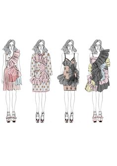 Fashion Sketchbook - fashion illustrations; lineup; fashion portfolio // Giryung Kim