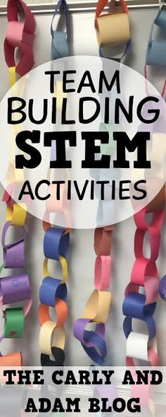 The Carly and Adam Blog: Team Building STEM Activities and a FREEBIE!