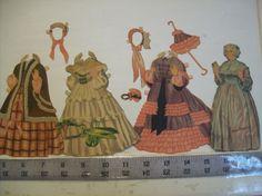 Original-Vintage-1940-Gone-with-the-Wind-paper-dolls-large-cut-set