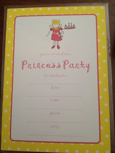 I'm selling Princess Party Invitations - pack of 10 - A$6.00 #onselz