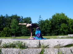 Ann Telfer  yoga, Ustrasana,Camel pose