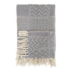 Bloomingville Soft Grey Cotton Throw - Beaumonde