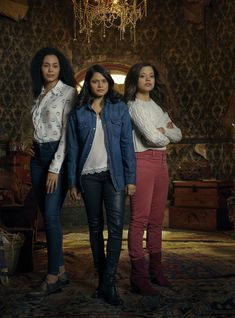 The power of three. Charmed premieres Sunday, October 14 on The CW! Stream free next day only on The CW App. Charmed Tv Show, New Charmed, Rupert Evans, Sarah Jeffery, Teen Poses, Game Of Thrones, Charmed Sisters, New Tv Series, Interview