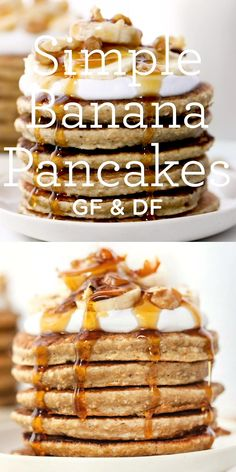 These healthy Banana Quinoa are made in the blender! Easy gluten-free recipe with the BEST fluffy texture - your whole family will love these homemade pancakes! Pancakes Easy, Banana Pancakes, Gourmet Recipes, Gluten Free Recipes, Vegan Recipes, Cooking Recipes, Clean Eating Snacks, Healthy Snacks, Zucchini