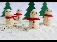 Bonshommes de Neige Chocolat Blanc & Noix de Coco { Recette en Stop Motion } My Favorite Food, Favorite Recipes, My Favorite Things, Stop Motion, Chocolate Festival, Whoopie Pies, Christmas Chocolate, 20 Min, Beignets
