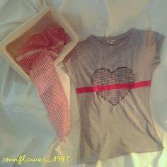 Vichy heart tshirt