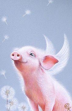 free flying pig clipart | Flying Pig Outline | Pigs | Pinterest ...