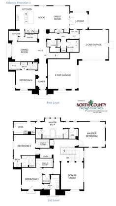 Plan Floorplans For New Homes Now Selling In Rancho Santa Fe Estancia At Cielo In Rancho Santa Fe New Construction Homes In San Diego North County