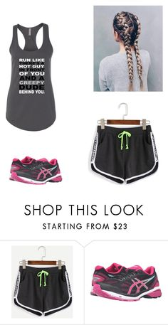"""""""Untitled #495"""" by caitdallon ❤ liked on Polyvore featuring WithChic and Asics"""